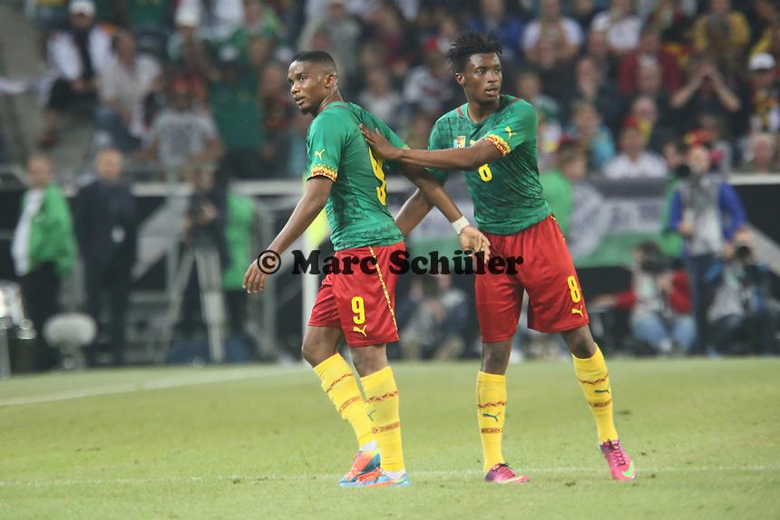 Samule Eto'o (CAM) wird ausgewechselt - Deutschland vs. Kamerun, Mönchengladbach