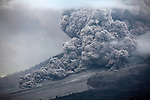 Large pyroclastic flow on Sinabung Volcano, Indonesia