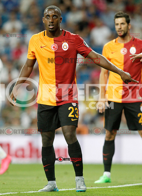 Galatasaray's Lionel Carole during XXXVI Santiago Bernabeu Trophy. August 18,2015. (ALTERPHOTOS/Acero)