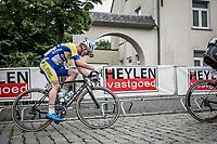 Milan Menten (BEL/Sport Vlaanderen-Baloise) riding the uphill cobbles.<br /> <br /> 11th Heistse Pijl 2018<br /> Turnhout > Heist-op-den Berg 194km (BEL)