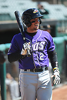 Akron Aeros outfielder Tyler Holt (2) during game against the Trenton Thunder at ARM & HAMMER Park on April 17, 2013 in Trenton, New Jersey.  Akron defeated Trenton 10-6.  Tomasso DeRosa/Four Seam Images