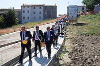 Il presidente della regione Molise Michele Iorio partecipa alla consegna del primo lotto dei lavori del museo sannitico di Pietrabbondante