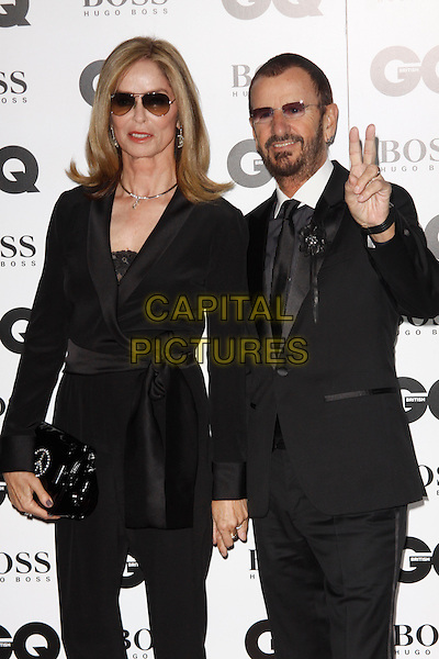 LONDON, ENGLAND - SEPTEMBER 02 :  Barbara Bach and Ringo Starr arrive at the GQ Men Of The Year 2014 at The Royal Opera House on September 02, 2014 in London, England.<br /> CAP/AH<br /> &copy;Adam Houghton/Capital Pictures