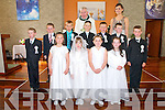 Pupils from Ballyduff Central  NS, Causway whom received communion at Ballyduff Church on Saturday last. Front :Shauna Griffin, Meabh dalton, Louise Joy & Chloe Houlihan-O'Connor. Centre: Joseph Murphy, Kyle O'Connor, Dylan Moriarity, Gerard Browne, Jerome O@rourke, Aidan O'Connor & Tadgh Dineen .Back :  Fr. Brendan Walsh & Treacher Gillian Harrington.