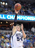 Matt Howard of the Bulldogs shoots a one-handed shot. Butler defeated Old Dominion 60-58 during the NCAA tournament at the Verizon Center in Washington, D.C. on Thursday, March 17, 2011. Alan P. Santos/DC Sports Box