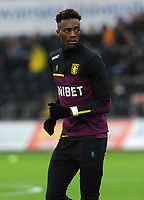 Aston Villa's Tammy Abraham during the pre-match warm-up <br /> <br /> Photographer Ian Cook/CameraSport<br /> <br /> The EFL Sky Bet Championship - Swansea City v Aston Villa - Wednesday 26th December 2018 - Liberty Stadium - Swansea<br /> <br /> World Copyright © 2018 CameraSport. All rights reserved. 43 Linden Ave. Countesthorpe. Leicester. England. LE8 5PG - Tel: +44 (0) 116 277 4147 - admin@camerasport.com - www.camerasport.com