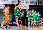 S&ouml;dert&auml;lje 2014-10-01 Basket Basketligan S&ouml;dert&auml;lje Kings - Norrk&ouml;ping Dolphins :  <br /> S&ouml;dert&auml;lje Kings Carl Engstr&ouml;m jublar med Dino Butorac <br /> (Foto: Kenta J&ouml;nsson) Nyckelord:  S&ouml;dert&auml;lje Kings SBBK T&auml;ljehallen Norrk&ouml;ping Dolphins jubel gl&auml;dje lycka glad happy