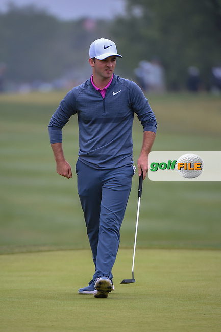 Denny McCarthy (USA) watches his putt on 1 during Round 3 of the Valero Texas Open, AT&T Oaks Course, TPC San Antonio, San Antonio, Texas, USA. 4/21/2018.<br /> Picture: Golffile   Ken Murray<br /> <br /> <br /> All photo usage must carry mandatory copyright credit (© Golffile   Ken Murray)