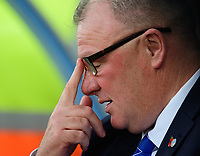 Peterborough United manager Steve Evans<br /> <br /> Photographer Chris Vaughan/CameraSport<br /> <br /> The EFL Sky Bet League One - Scunthorpe United v Peterborough United - Saturday 13th October 2018 - Glanford Park - Scunthorpe<br /> <br /> World Copyright © 2018 CameraSport. All rights reserved. 43 Linden Ave. Countesthorpe. Leicester. England. LE8 5PG - Tel: +44 (0) 116 277 4147 - admin@camerasport.com - www.camerasport.com