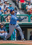 14 March 2016: Tampa Bay Rays infielder Tim Beckham in action during a pre-season Spring Training game against the Atlanta Braves at Champion Stadium in the ESPN Wide World of Sports Complex in Kissimmee, Florida. The Ray fell to the Braves 5-0 in Grapefruit League play. Mandatory Credit: Ed Wolfstein Photo *** RAW (NEF) Image File Available ***