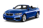 2017 BMW 2-Series M230i 2 Door Convertible Angular Front stock photos of front three quarter view