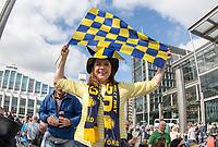 Oxford United Supporter ahead of the The Checkatrade Trophy / EFL Trophy FINAL match between Oxford United and Coventry City at Wembley Stadium, London, England on 2 April 2017. Photo by Kevin Prescod.