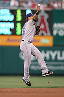 06/08/11 Anaheim, CA: Tampa Bay Rays second baseman Ben Zobrist #18 during an MLB game between the Tampa Bay Rays and The Los Angeles Angels  played at Angel Stadium. The Rays defeated the Angels 4-3 in 10 innings