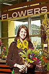 01/30/13--Jamie Galluzzo who is a florist at New Seasons at Pogress Ridge, can make a custom-made floral design for Valentine's Day..Photo by Jaime Valdez. ..