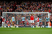 during the Premier League match between Arsenal and Aston Villa at the Emirates Stadium, London, England on 22 September 2019. Photo by Carlton Myrie / PRiME Media Images.