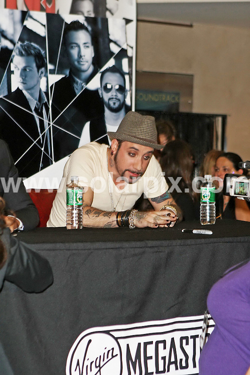 **ALL ROUND PICTURES FROM SOLARPIX.COM**.**SYNDICATION RIGHTS FOR UK, SPAIN, PORTUGAL, AUSTRALIA, S.AFRICA & DUBAI (U.A.E) ONLY**.The Backstreet Boys unbreakable CD signing at Virgin mega store signing in Manhattan New York in the USA yesterday..This pic:AJ McLean.JOB REF:5230-PHZ    DATE:30_10_07 .**MUST CREDIT SOLARPIX.COM OR DOUBLE FEE WILL BE CHARGED* *UNDER NO CIRCUMSTANCES IS THIS IMAGE TO BE REPRODUCED FOR ANY ONLINE EDITION WITHOUT PRIOR PERMISSION*