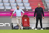 13th June 2020, Allianz Erena, Munich, Germany; Bundesliga football, Bayern Munich versus Borussia Moenchengladbach;  (L-R) Sporting director Hasan Salihamizic (Bayern) and Trainer Hans-Dieter Flick (Bayern)