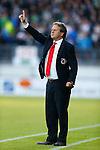 Nederland, Rotterdam, 15 mei 2014<br /> Jupiler play-offs<br /> Finale<br /> Sparta - FC Dordrecht <br /> Gert Kruys, trainer-coach van Sparta steekt zijn vinger op