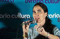 SAO PAULO, SP, 21 DE FEVEREIRO 2013 - YOANI SANCHEZ - SAO PAULO - A jornalista e blogueira cubana Yoani Sánchez durante debate com blogueiros no Cine Cultura desta noite desta quinta-feira na na regiao da avenida Paulista. FOTO: VANESSA CARVALHO - BRAZIL PHOTO PRESS. .