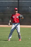 Cincinnati Reds right fielder Josh VanMeter (30) during a Minor League Spring Training game against the Chicago White Sox at the Cincinnati Reds Training Complex on March 28, 2018 in Goodyear, Arizona. (Zachary Lucy/Four Seam Images)