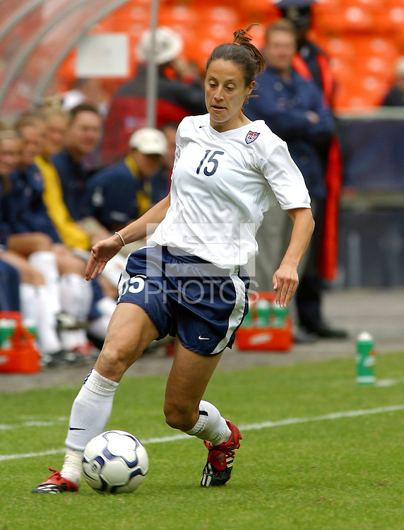 Kate Sobrero, USWNT vs Canada April 26, 2003.