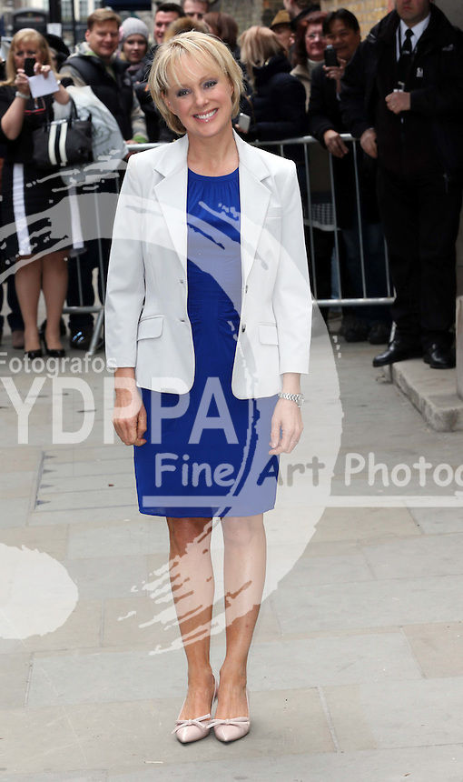 Sally Dynevor arriving for the wedding of Coronation Street actress Helen Worth   at St.James's Church in Piccadilly, London, Saturday 6th   April 2013.  Photo by: Stephen Lock / i-Images / DyD Fotografos