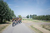 Team LottoNL-Jumbo pacing the peloton to control the race for teammates Primoz Roglic (GC leader) &amp; Dylan Groenewegen (sprinter)<br /> <br /> Ster ZLM Tour (2.1)<br /> Stage 2: Tholen &gt; Hoogerheide (186.8km)