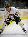 23 January 2009: University of Vermont Catamount forward Chris Atkinson, a Sophomore from Sparta, NJ, in action against the University of Massachusetts Minutemen during the first game of a weekend series at Gutterson Fieldhouse in Burlington, Vermont. The Catamounts defeated the visiting Minutemen 2-1. Mandatory Photo Credit: Ed Wolfstein Photo