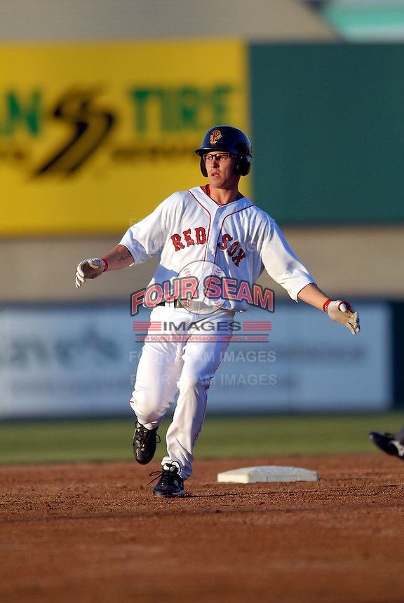 OF Josh Reddick of the Pawtucket Red Sox at McCoy Stadium in Pawtucket, RI on April 30, 2010 (Photo by Ken Babbitt/Four Seam Images)