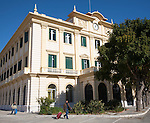 Historic port authority office building Malaga, Spain eclectic classicist style, 1935  architect Manuel Aceña González