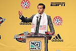 13 January 2011: New England Revolution selected A.J. Soares with the #6 overall pick. The 2011 MLS SuperDraft was held in the Ballroom at Baltimore Convention Center in Baltimore, MD during the NSCAA Annual Convention.