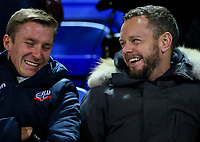 Former Bolton Wanderers players Stephen Darby and Jay Spearing share a joke before the match<br /> <br /> Photographer Alex Dodd/CameraSport<br /> <br /> The EFL Sky Bet Championship - Bolton Wanderers v West Bromwich Albion - Monday 21st January 2019 - University of Bolton Stadium - Bolton<br /> <br /> World Copyright © 2019 CameraSport. All rights reserved. 43 Linden Ave. Countesthorpe. Leicester. England. LE8 5PG - Tel: +44 (0) 116 277 4147 - admin@camerasport.com - www.camerasport.com