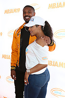 LOS ANGELES - JUL 27:  Michael B. Jordan, Toni Braxton at the 3rd Annual MBJAM19 at the Dave & Busters on July 27, 2019 in Los Angeles, CA