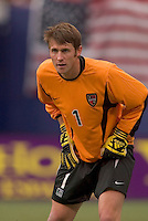 The MetroStars' goal keeper Jonny Walker. D. C. United was defeated by the NY/NJ MetroStars 3 to 2 during the MetroStars home opener at Giant's Stadium, East Rutherford, NJ, on April 17, 2004.