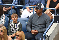 FLUSHING NY- SEPTEMBER 10: Charlie Woods and Tiger Woods at the US Open Men's Final Championship match at the USTA Billie Jean King National Tennis Center on September 10, 2017 in Flushing, Queens. <br /> CAP/MPI/PAL<br /> &copy;PAL/MPI/Capital Pictures