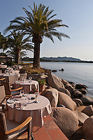 Europe/France/2A/Corse du Sud/Porto-Vecchio: Hôtel-Restaurant: Le Belvédère, la terrasse  du restaurant sur le Golfe de Porto-Vecchio [Non destiné à un usage publicitaire - Not intended for an advertising use]