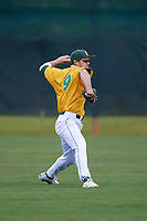 North Dakota State Bison outfielder Carter Thompson (9) during warmups before a game against the Central Connecticut State Blue Devils on February 23, 2018 at North Charlotte Regional Park in Port Charlotte, Florida.  North Dakota State defeated Connecticut State 2-0.  (Mike Janes/Four Seam Images)