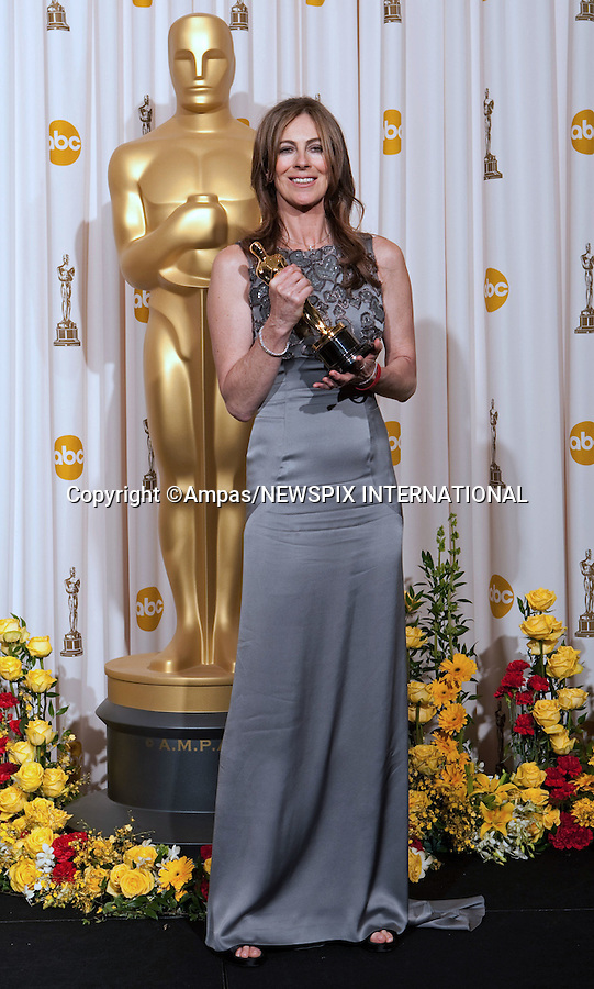 """KATHYRN BIGELOW.at the 82nd Annual Academy Awards at the Kodak Theatre in Hollywood, CA, on Sunday, March 7, 2010..Mandatory Photo Credit: Newspix International..**ALL FEES PAYABLE TO: """"NEWSPIX INTERNATIONAL""""**..PHOTO CREDIT MANDATORY!!: NEWSPIX INTERNATIONAL(Failure to credit will incur a surcharge of 100% of reproduction fees)..IMMEDIATE CONFIRMATION OF USAGE REQUIRED:.Newspix International, 31 Chinnery Hill, Bishop's Stortford, ENGLAND CM23 3PS.Tel:+441279 324672  ; Fax: +441279656877.Mobile:  0777568 1153.e-mail: info@newspixinternational.co.uk"""