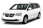 2015 Dodge Grand Caravan SXT PLUS 5 Door Minivan Angular Front stock photos of front three quarter view