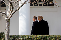 United States President Donald Trump and Czech Republic Prime Minister Andrej Babi&scaron; walk towards the Oval Office at White House in Washington, District of Columbia on Thursday, March 7, 2019. <br /> CAP/MPI/RS<br /> &copy;RS/MPI/Capital Pictures