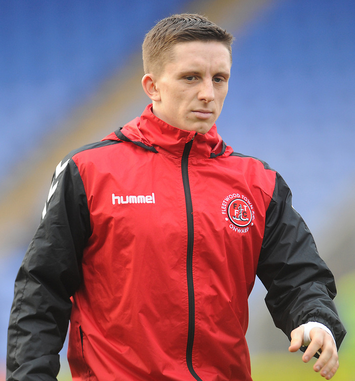 Fleetwood Town's Ashley Hunter during the pre-match warm-up <br /> <br /> Photographer Kevin Barnes/CameraSport<br /> <br /> The EFL Sky Bet League One - Shrewsbury Town v Fleetwood Town - Tuesday 1st January 2019 - New Meadow - Shrewsbury<br /> <br /> World Copyright © 2019 CameraSport. All rights reserved. 43 Linden Ave. Countesthorpe. Leicester. England. LE8 5PG - Tel: +44 (0) 116 277 4147 - admin@camerasport.com - www.camerasport.com