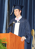 Jack Behr, Student Councul President, welcomes everyone.