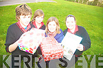 PRESENTS: Students from Mean Scoil an Leith Triuigh as well as members of the community made seventy presents as part of Operation Christmas Child recently. From l-r were: Michael Mulally, Caoilfhionn Cullane, teacher Edel O'Connor and Leah O'Donnell.