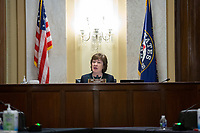 United States Senator Susan Collins (Republican of Maine) speaks during a United States Senate Aging Committee hearing at the United States Capitol in Washington D.C., U.S. on Thursday, May 21, 2020.  Credit: Stefani Reynolds / CNP /MediaPunch