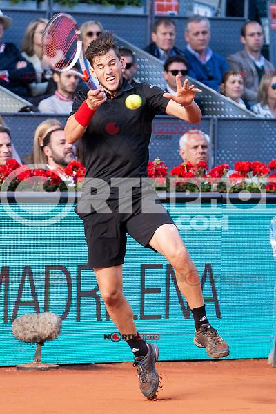Austrian Dominic Thiem during Finals of Mutua Madrid Open at Caja Magica in Madrid, Spain. May 13, 2018. (ALTERPHOTOS/Borja B.Hojas)