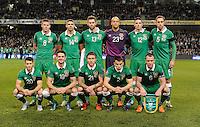 16/11/2015;UEFA 2016 European Championship Play-Off Ireland vs Bosnia-Herzegovina 2nd Leg,Aviva Stadium,Dublin <br /> The Republic of Ireland team.<br /> Photo Credit: actionshots.ie/Tommy Grealy