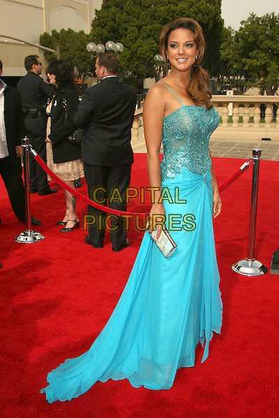 EVA LaRUE.2007 NCLR ALMA Awards at the Pasadena Civic Center,.Pasadena, California, USA,.1st June 2007..full length turquoise dress.CAP/ADM/BP.©Byron Purvis/AdMedia/Capital Pictures.