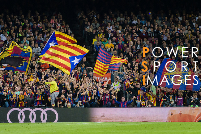 Fans of Barcelona during the La Liga 2018-19 match between FC Barcelona and Sevilla FC at Camp Nou Stadium on October 20 2018 in Barcelona, Spain. Photo by Vicens Gimenez / Power Sport Images