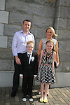 Reilly millen, Niamh and Parents Ken and Eonagh.at first communion in Duleek church..Picture:  www.newsfile.ie ..