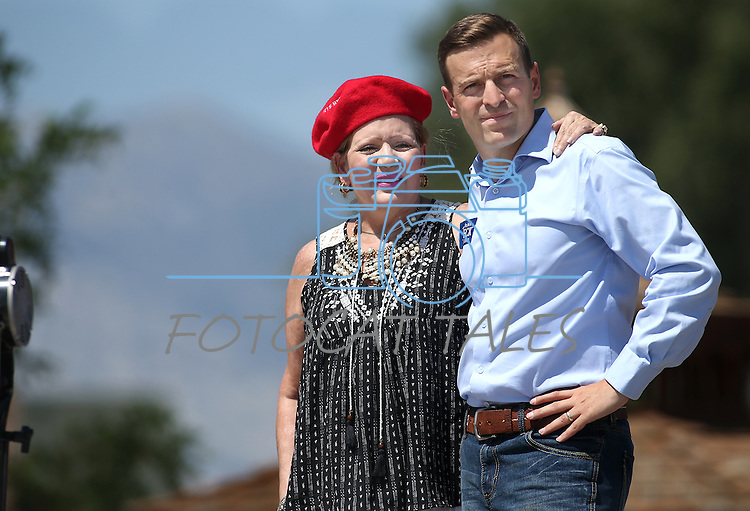 Nevada Attorney General Adam Laxalt and his mother Michelle look out over the crowd at the second annual Basque Fry in Gardnerville, Nev., on Saturday, Aug. 20, 2016. Laxalt and his political action committee, Morning in Nevada, host the Republican rally and Basque-style barbeque. Cathleen Allison/Las Vegas Review-Journal